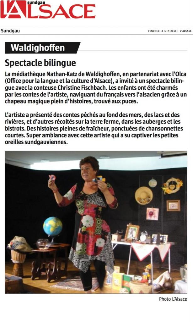 ART DS PRESSE L'ALSACE 21 05 2016