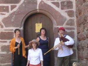 Compagnie La Rose des Vents: Céline Rebstock, Catherine Piron-Paira, Christine Fischbach et Sylvain Piron